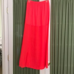 Love culture neon pink maxi sheer skirt